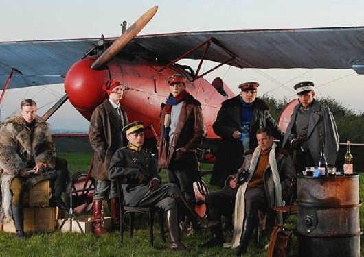 The Red Baron - Richthofen's squadron includes Til Schweiger as the legendary Werner Voss, Volker Bruch as Manfred's brother Lothar, Maxim Mehmet as the fictional Lt. Sternberg, Steffen Schroeder as Lt. Bodenschatz, Hanno Koffler as Lt. Lehmann, and Tino Mewes as Lt. Wolff.