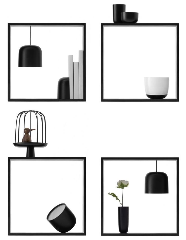 Gaku by Nendo for Flos    Another highlight from the Flos stand, these box-shaped lights are used in combination with other objects to create framed scenes. Designed by Japanese studio Nendo, they can be paired with bowls, vases, a mirror and more.