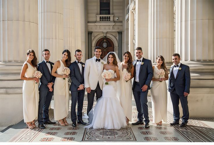 Fashion-Inspired Wedding in Melbourne, Australia - Be inspired by Vicki & Stephen's luxurious and fashionable wedding in Melbourne, Australia #wedding #luxury #couture #fashion #inspired #melbourne #australia #greek #orthodox #party #bridal #groomsmen #style #columns #classic #dress #inspiration