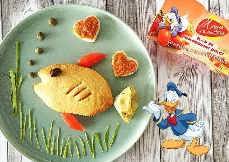 Pesciolino estivo con Flan di Pomodorini Dolci Valbona Disney
