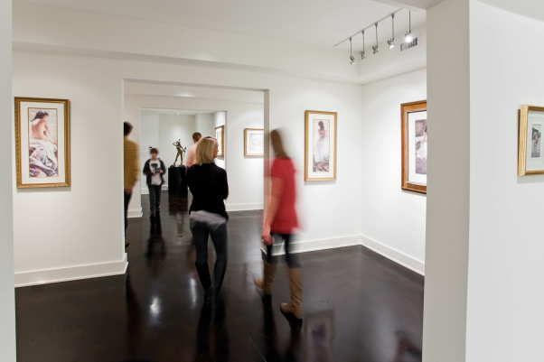 #privateartgallery in your basement, along with a personal #gym, #wine room, #theater and...rec area?  We did it. Basement Art Gallery Design by HammerSmith