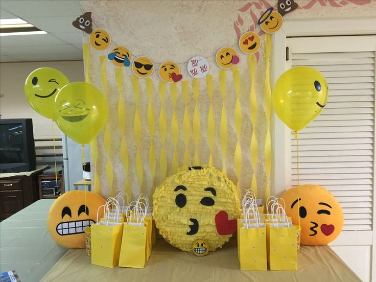 Emoji Birthday Decorations.