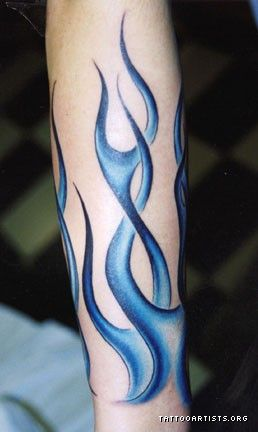 Blue Flame Tattoos on Ghost Flames   Tattoo Artists Org