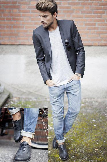 Mariano Di Vaio - Black, Blazer - Brick Wall (MdvStyle.com)