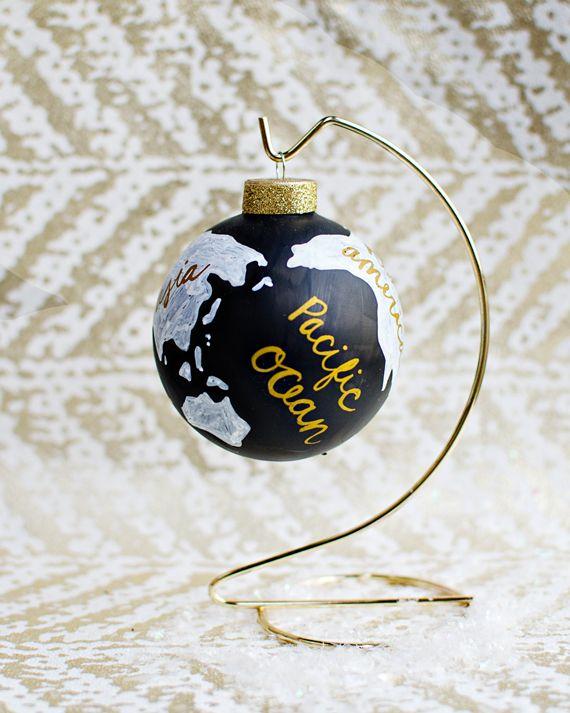 DIY mystery supply challenge: wanderlust globe ornament #xmas #christmas #navidad