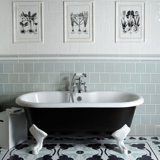 Best 25 border tiles ideas on pinterest transitional for Period bathroom ideas