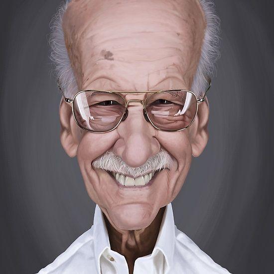 Stan Lee art | decor | wall art | inspiration | caricature | home decor | idea | humor | gifts