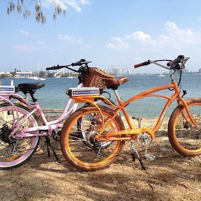 Take a self guided tour on a bicycle, electric bike, or why not a segway! Prices from $15 with no age limit & no license required. Located in the heart of Surfers Paradise, Ebikes Gold Coast is the perfect way to get around!  #migoldcoast #goldcoast #ebikes #ebike #travel