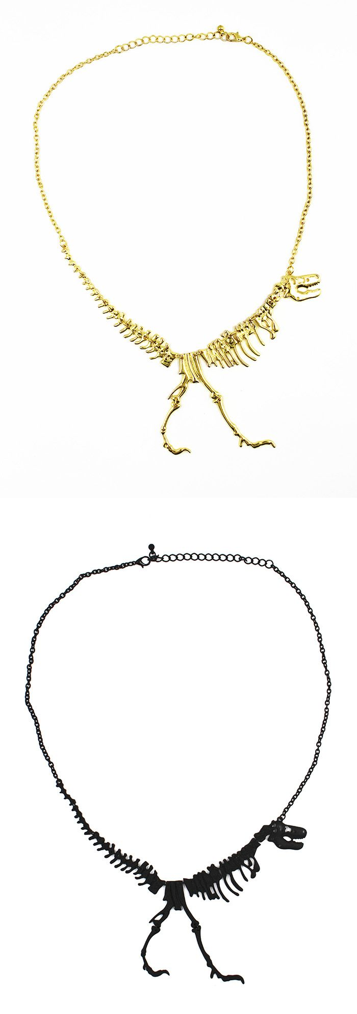 Collier squelette dinosaure http://www.shusee.com/bijoux-fantaisie/48-collier-createur-squelette-dinosaure.html