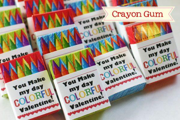 crayon valentineHalloween Stuff, Colors Crafts, Colors Romantic, Romantic Valentine, Crayons Boxes, Crayons Valentine, Parties Favors, Halloween Treats, Colors Valentine