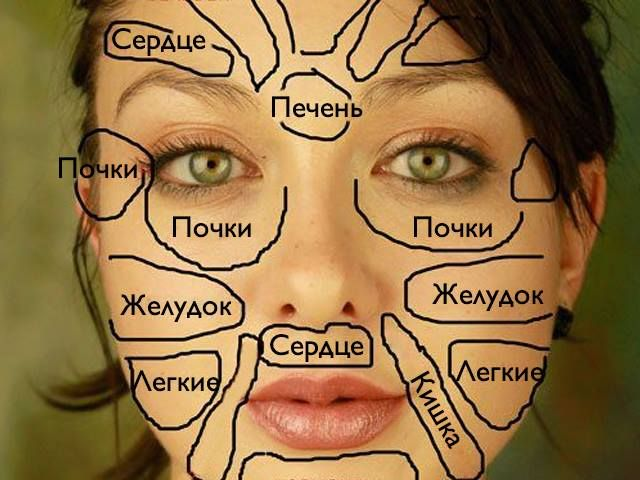 Китайцы считают, что различные части лица связаны с различными органами тела. Наше лицо может четко показать сбой, который произошел в организме, за счет появления высыпаний, прыщей или изменения цвет…