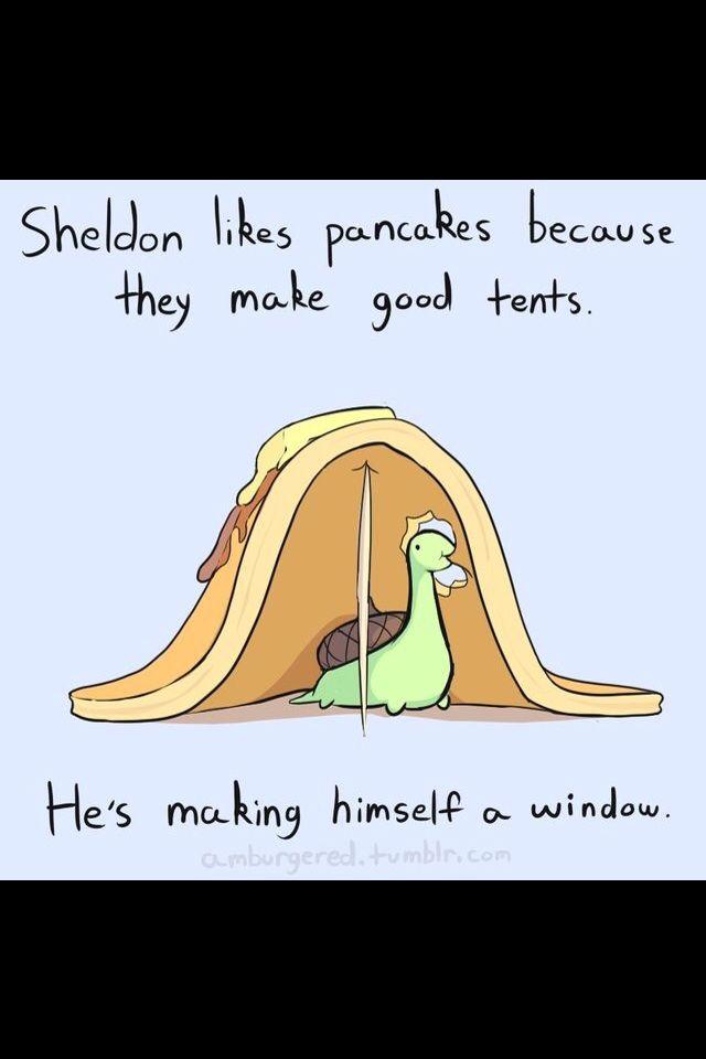 Sheldon likes pancakes. - Imgur