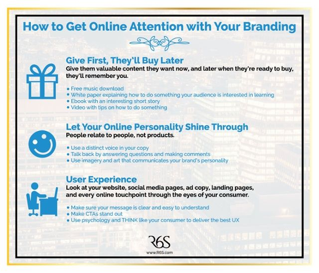 Gain audience attention by allowing users to get to know your brand's personality online through user friendly content.