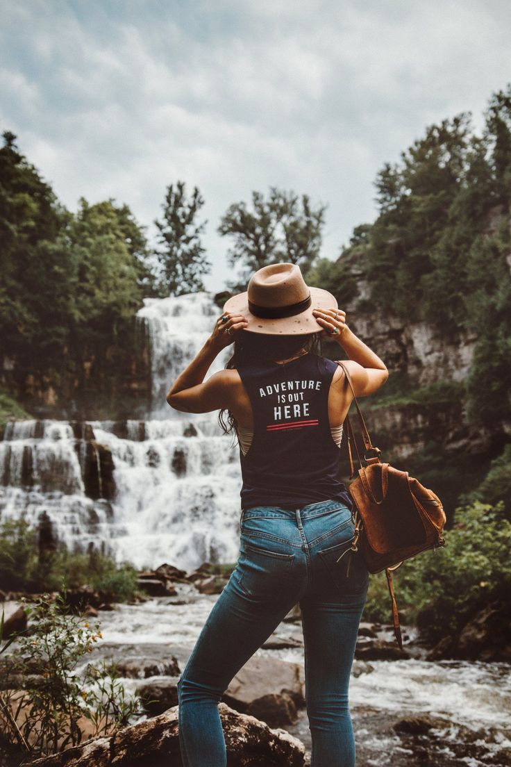 The Parks Apparel presents our Adventure is Out Here women's muscle tank. Adventure isn't out there - it's exactly where you are. We can say adventure is out there all we want, but isn't it about time