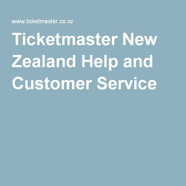 Ticketmaster New Zealand Help and Customer Service