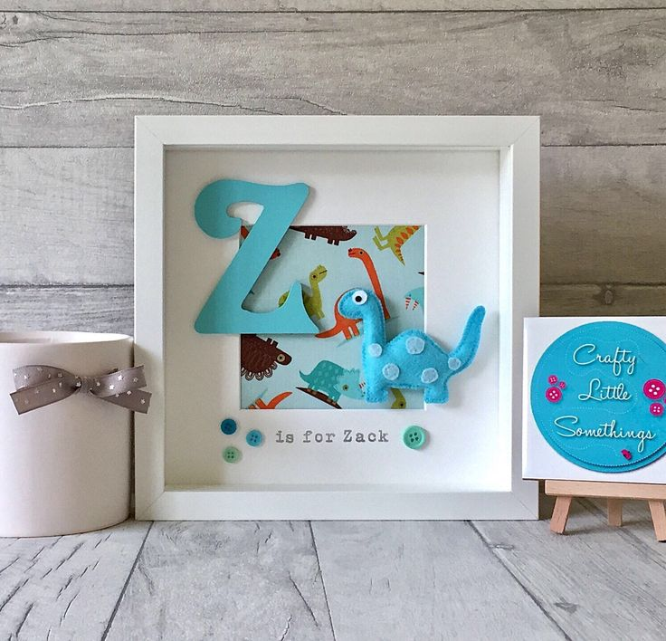 A personal favourite from my Etsy shop https://www.etsy.com/uk/listing/261852858/personalised-dinosaur-box-frame