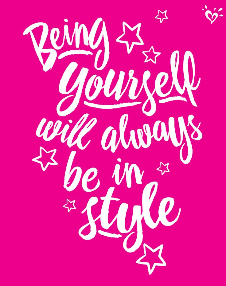 Be you, there's no one better!