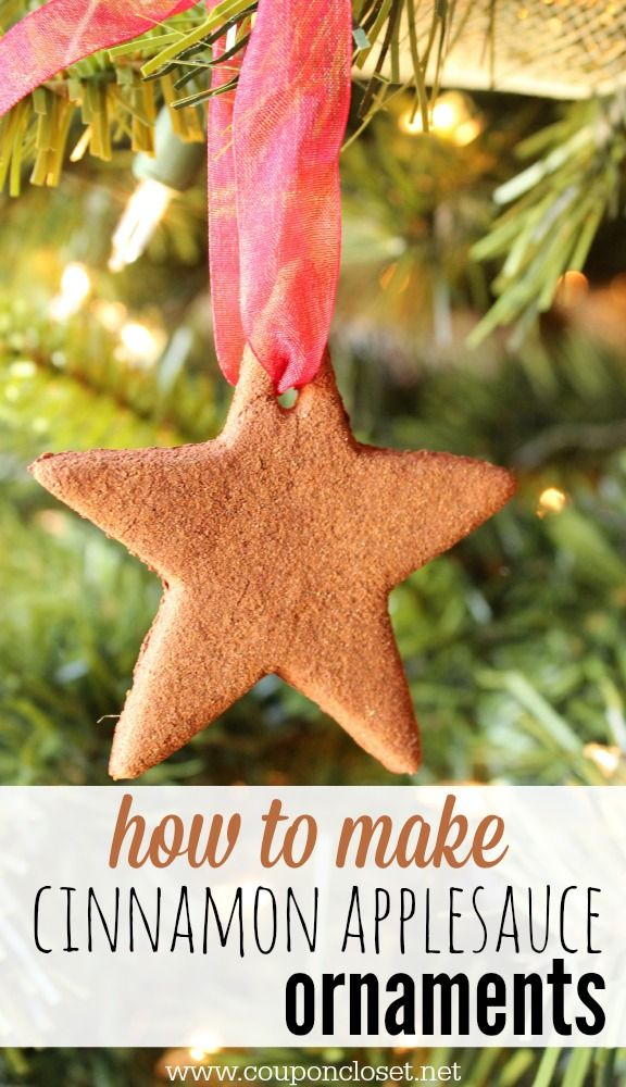 How to make Cinnamon Ornaments with just three easy ingredients. These are perfect to make with the kids. They are frugal and fun to make. Plus, they look beautiful on the tree!