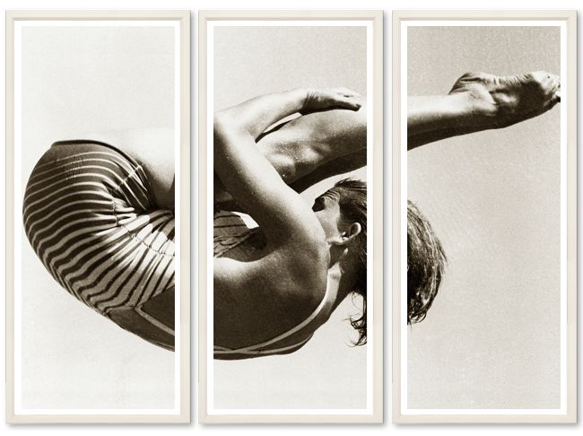 TROWBRIDGE - Our Triptychs. Olympic high dive.