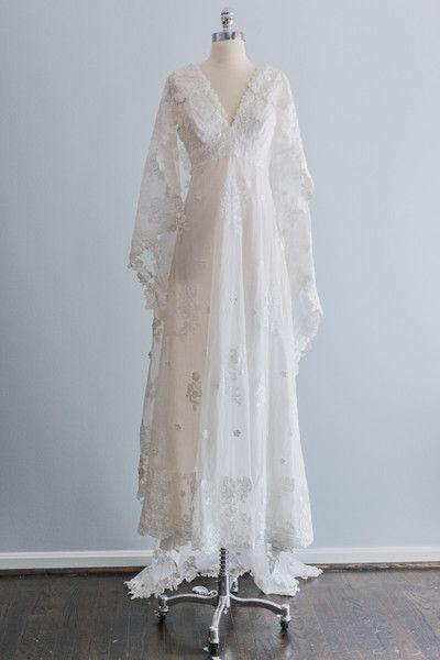 1960's Priscilla Of Boston Trained Cape Dress via Gossamer Vintage