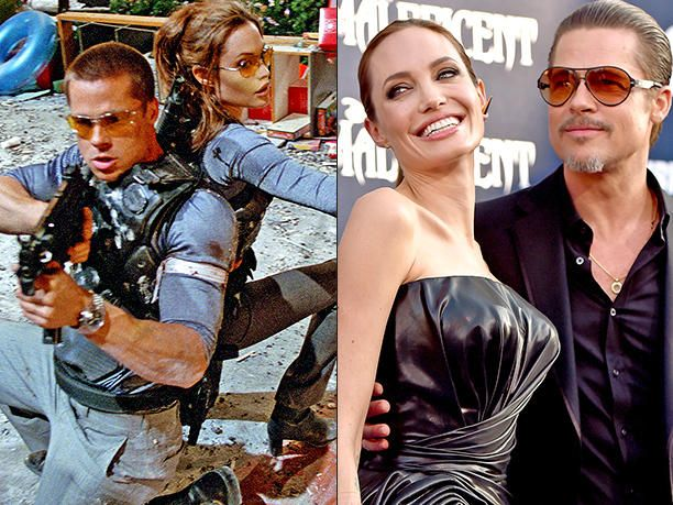 Angelina Jolie and Brad Pitt - Reel-to-real couples -  14 relationships that blossomed on-screen and off - EW.com