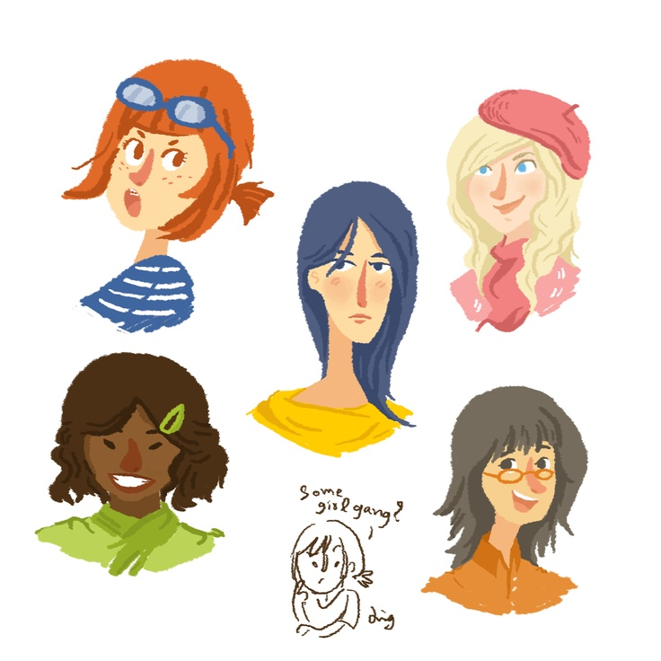 Some girl gang I don't know haha