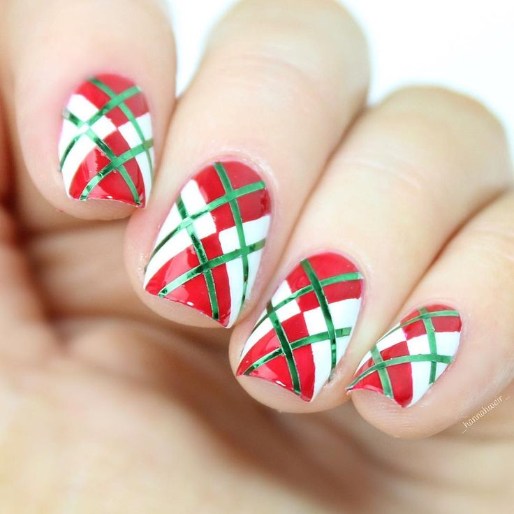 christmas gel nails ideas