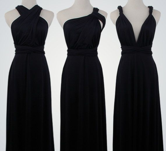 Black DressSexy Prom GownParty DressBlack Party by VicenteDresses