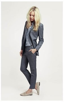 Need to find a suit like this that I can actually afford! Cute with flats...major plus!