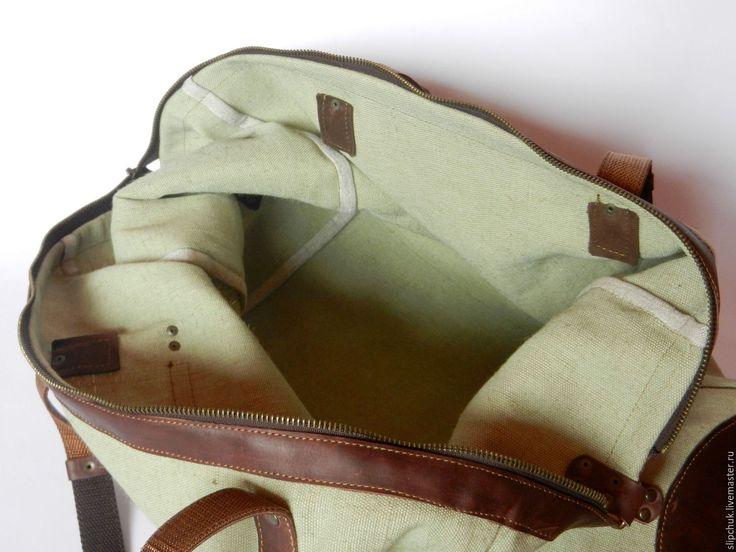Купить Тravel - оливковый, однотонный, коричневый, спортивная сумка, брезентовая сумка, большая сумка