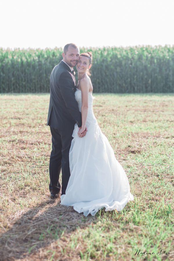 Simple wedding portrait
