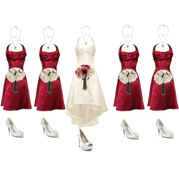 Rockabilly Style Wedding For Less: Dama Dresses, Red Dresses, Rockabilly Bridesmaid Dresses, Color, Adorable Bridesmaid, Bridesmaid Ideas, Rockabilly Wedding Dresses, Bride Dresses, Rockabilly Style Wedding
