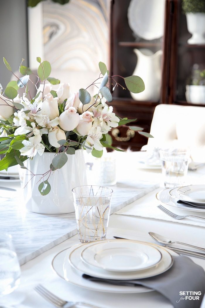 How To Update Dining Room Furniture Dining Room Table Centerpieces Dining Table Decor Centerpiece Dining Table Centerpiece