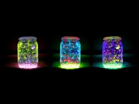 How To Make Glow Jars With Floating Colors -