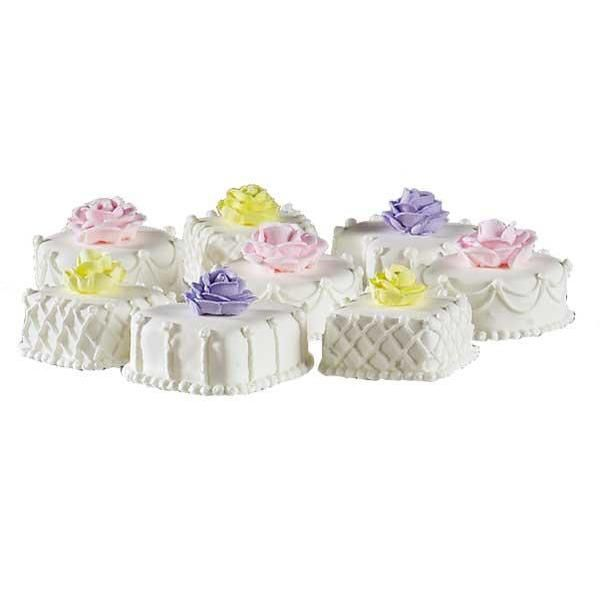 Pretty Petit Fours Mini Cakes - www.Wilton.com