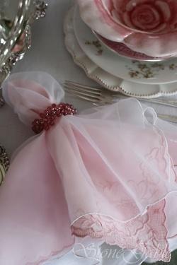 napkin with overlay