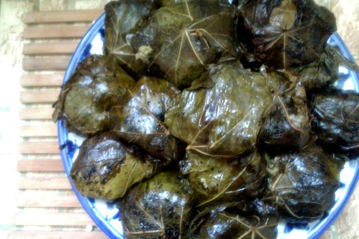 "One Of The Most Delicious Iranians Food ""Dolme-ye Barg-e Mo"" (Stuffed Vine Leaves)"