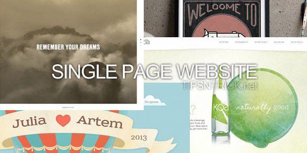 15 Website Model Single Page keren