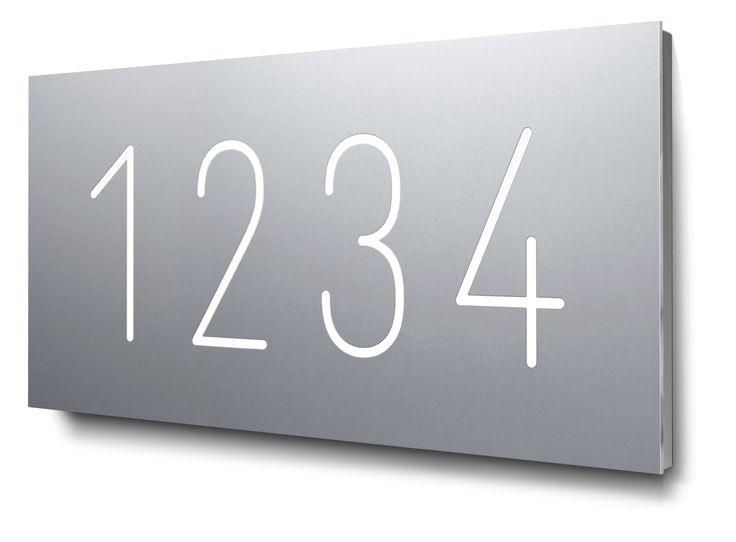 die besten 25 hausnummer beleuchtet ideen auf pinterest. Black Bedroom Furniture Sets. Home Design Ideas