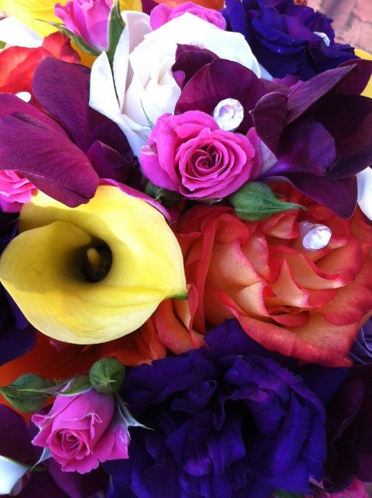 bright and colorful bouquet