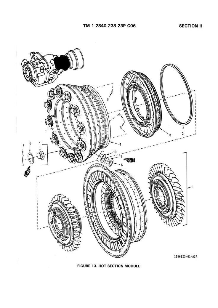 Engine Assembly T700 Ge 701 2 2 Turbo Jet Fan Shaft