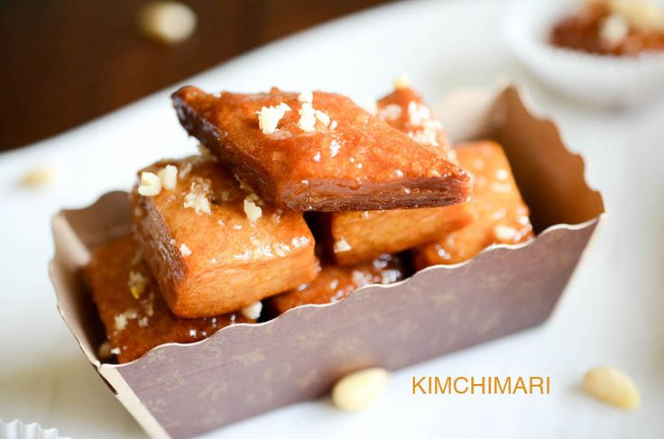 Easy version of Korean dessert Yakwa which is baked instead of fried. Not as rich but easy to make and certainly almost as delicious and healthier!