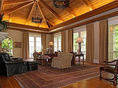 Add elegance to an indoor vaulted ceiling with soffit lighting