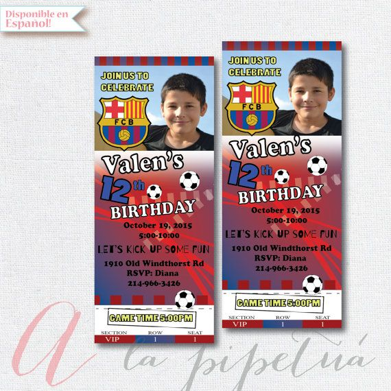 Soccer birthday party invitation. Boy birthday party. by Pipetua