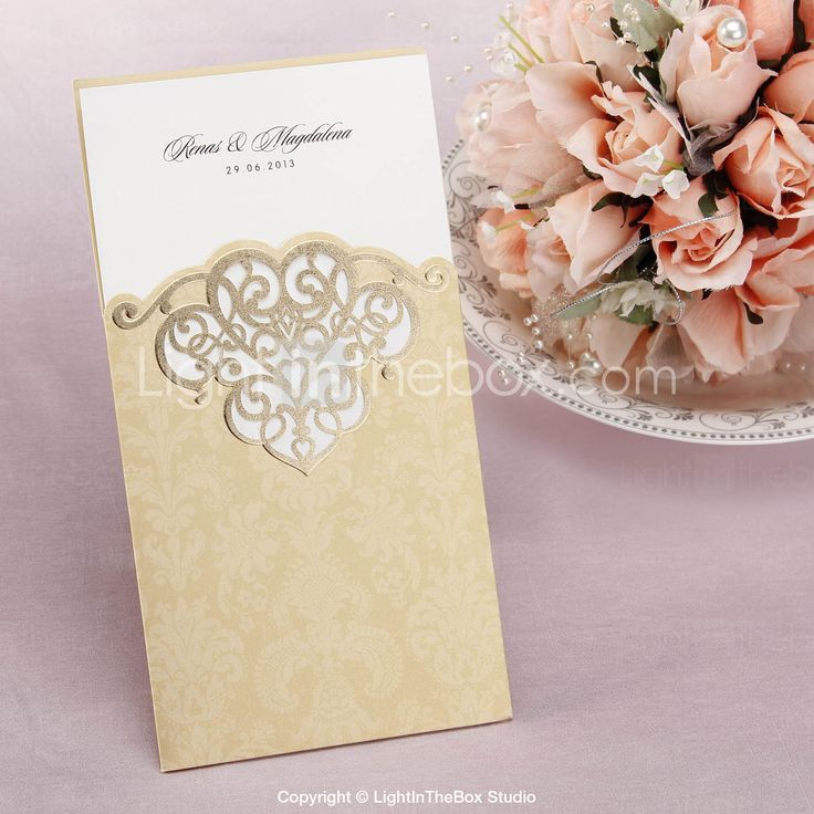 matter for wedding invitation in gujarati%0A Personalized Wedding Invitation With Lasercut Pattern  Set of        More  Colors