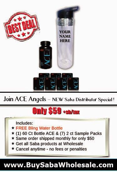 http://buysabawholesale.com If you LOVE Saba ACE diet pills and other Saba products and want to be a Distributor - Join ACE Angels ! Here's my NEW Angels Special ! Just click this pic ! FREE Saba Retail Website where Saba ships out your orders! Terri McClellan 713.882.5869 #aceangelterri #joinaceangels #sabaace #sabatrimpro #buysabawholesale