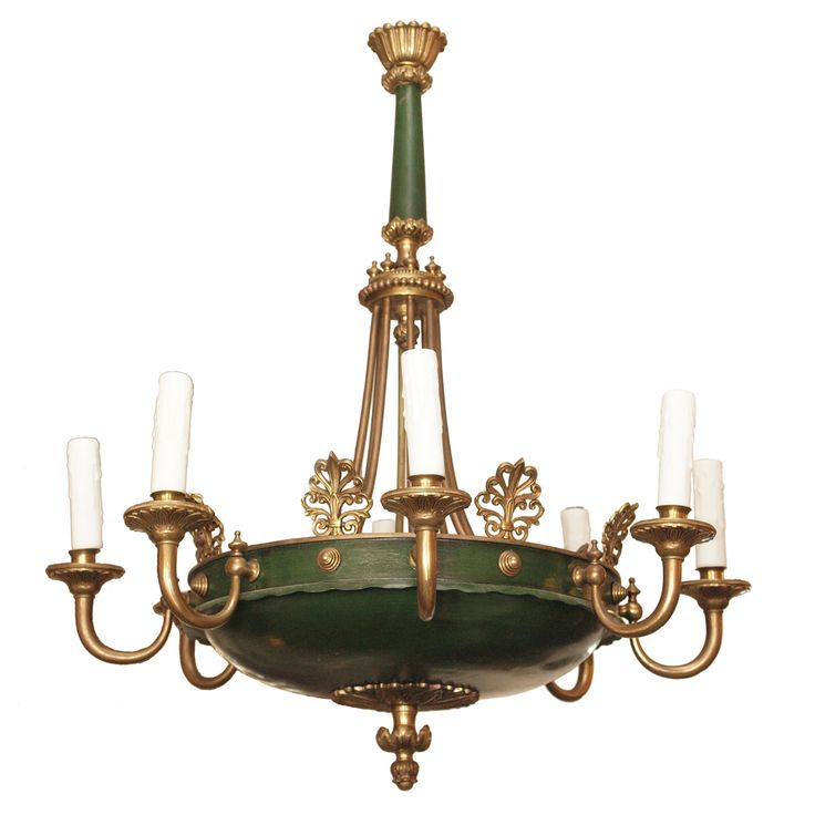 """Early 20th c Empire Style Chandelier 