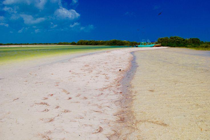 Beach on an island