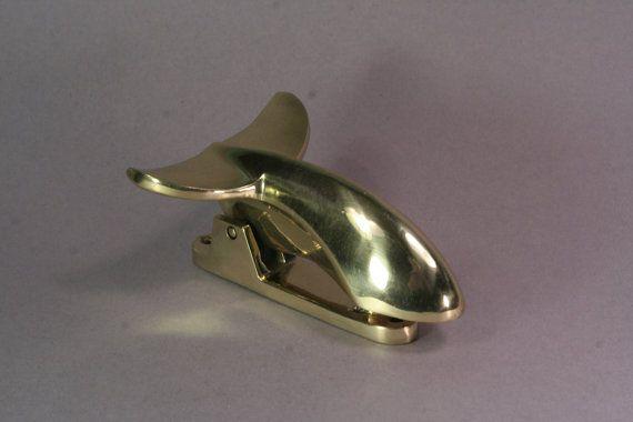 Tail of a whale brass door knocker - Whale door knocker ...