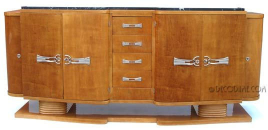 French Art Deco Credenza / Sideboard/ Bar Cabinet  Circa 1930's, France. @designerwallace